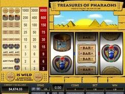 Treasures of Pharaohs 1 Line Slots
