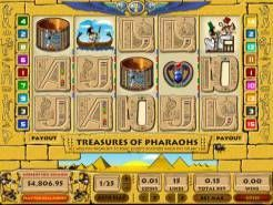 Treasures of Pharaohs 15 Line Slots